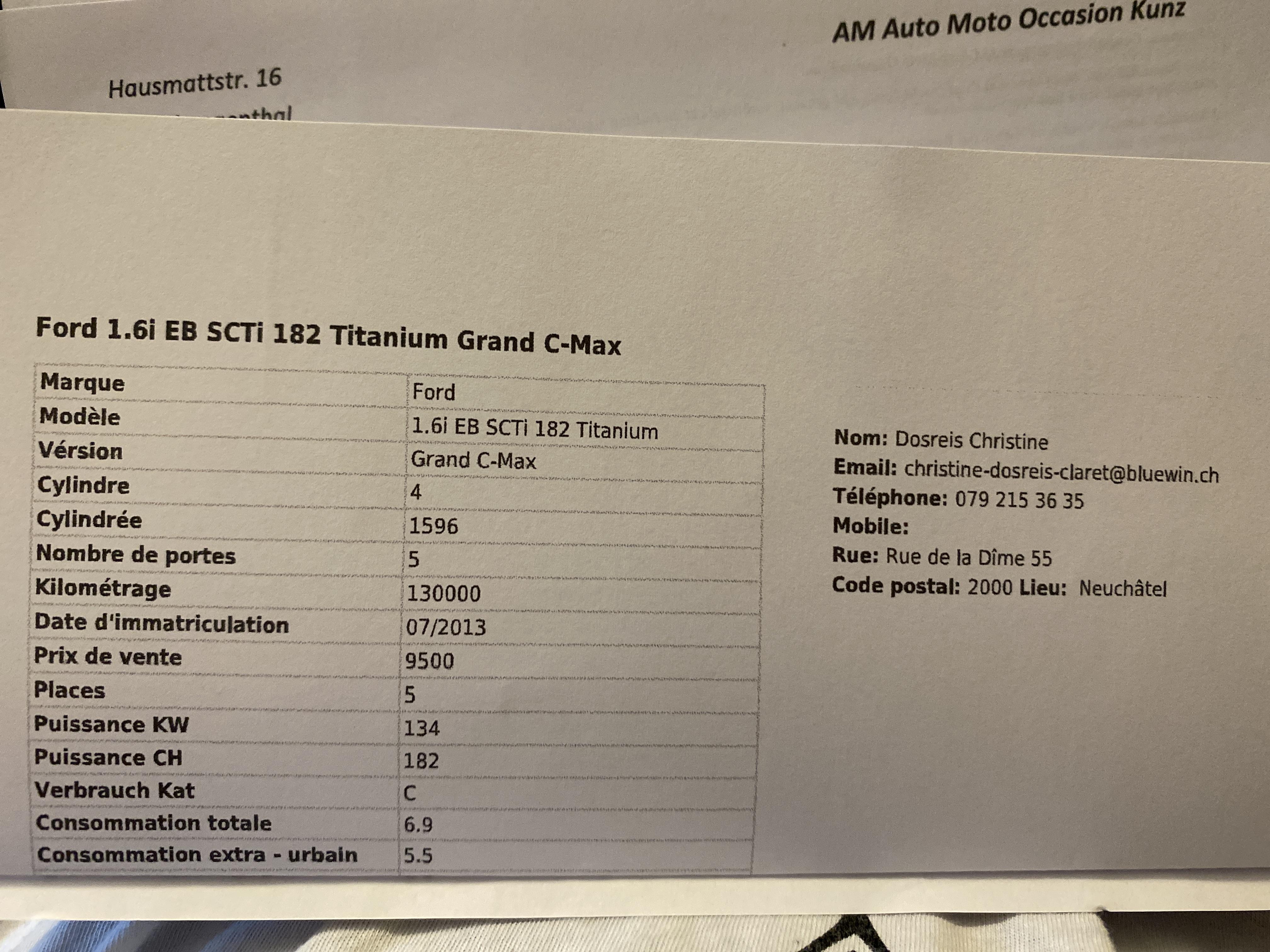 Ford Grand C-Max 1.6i EB SCTi 182 Titanium